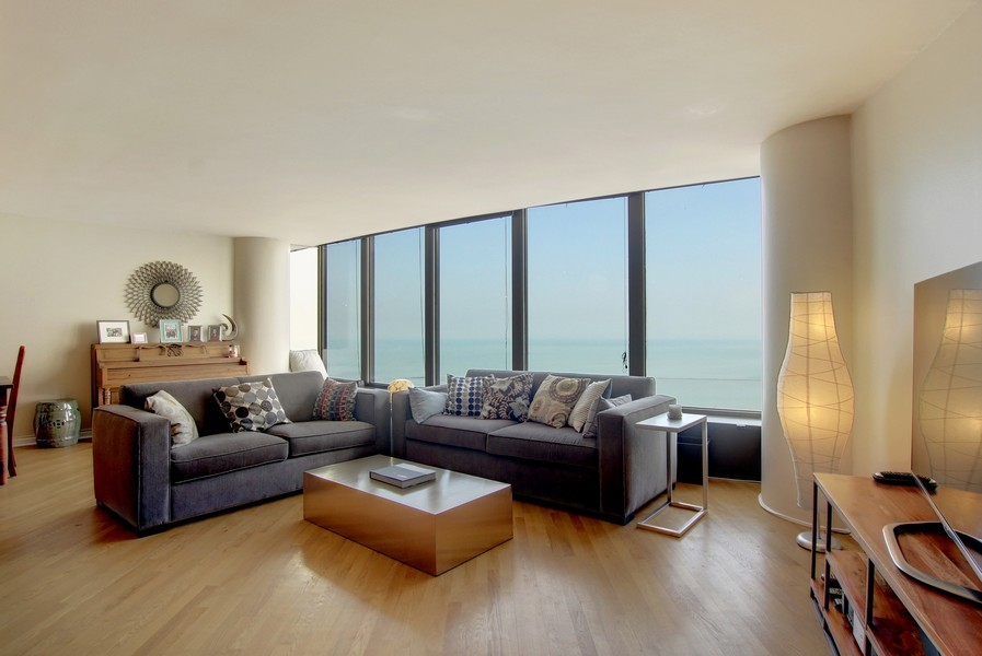 Real Estate Photography - 505 N. Lake Shore Dr., 3905, Chicago, IL, 60611 - Living Room