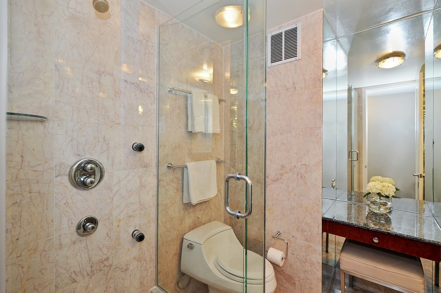 Real Estate Photography - 505 N. Lake Shore Dr., 3905, Chicago, IL, 60611 - Guest/2nd Bathroom