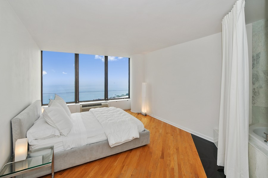 Real Estate Photography - 505 N. Lake Shore Dr., 3905, Chicago, IL, 60611 - Master Bedroom