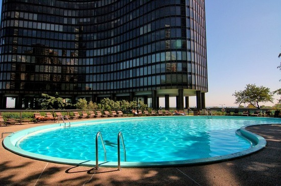 Real Estate Photography - 505 N. Lake Shore Dr., 3905, Chicago, IL, 60611 - Pool