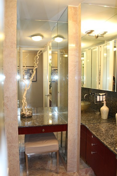 Real Estate Photography - 505 N. Lake Shore Dr., 3905, Chicago, IL, 60611 - 2nd Bathroom