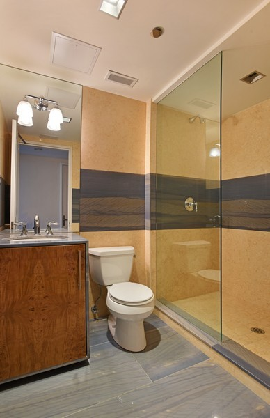 Real Estate Photography - 415 E North Water St, Unit 3205, Chicago, IL, 60611 - 2nd Bathroom