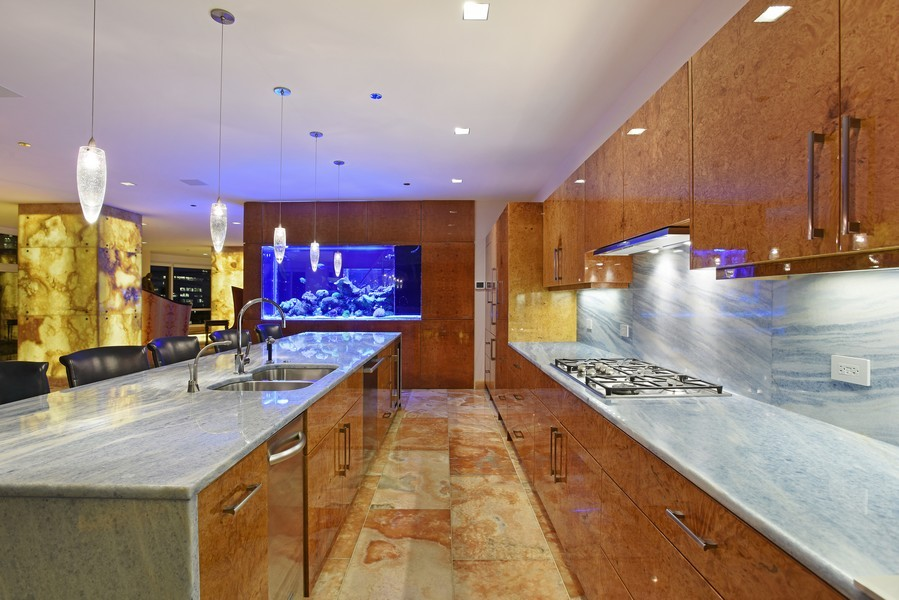 Real Estate Photography - 415 E North Water St, Unit 3205, Chicago, IL, 60611 - Kitchen
