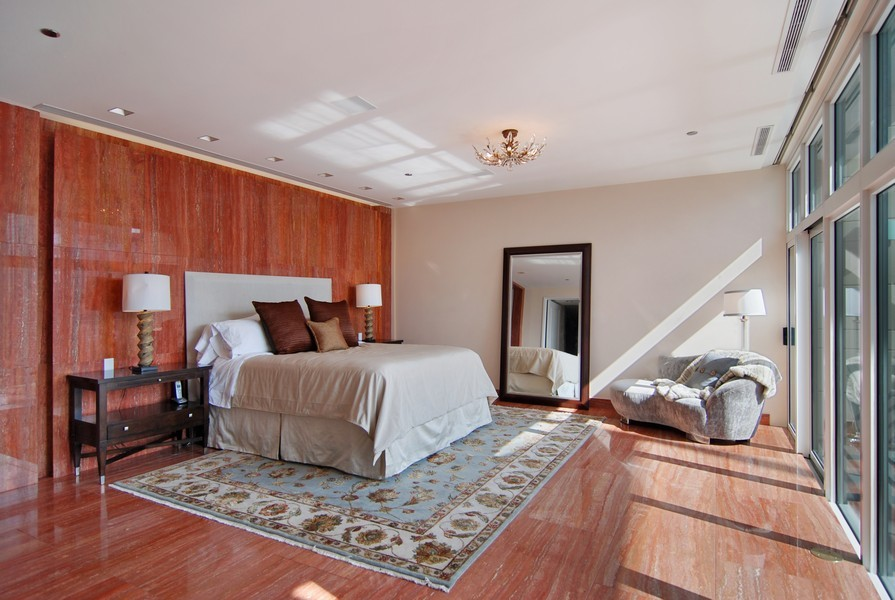 Real Estate Photography - 415 E North Water St, Unit 3205, Chicago, IL, 60611 - Master Bedroom