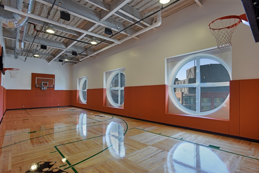 Real Estate Photography - 415 E North Water St, Unit 3205, Chicago, IL, 60611 - Basketball Court