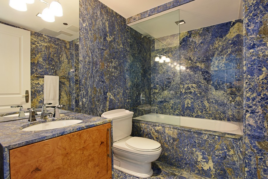 Real Estate Photography - 415 E North Water St, Unit 3205, Chicago, IL, 60611 - 3rd Bathroom