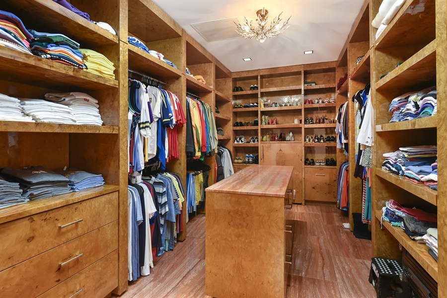 Real Estate Photography - 415 E North Water St, Unit 3205, Chicago, IL, 60611 - Master Closet