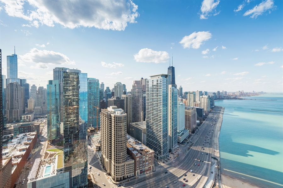 Real Estate Photography - 505 N. Lake Shore, 4512, Chicago, IL, 60611 - City View