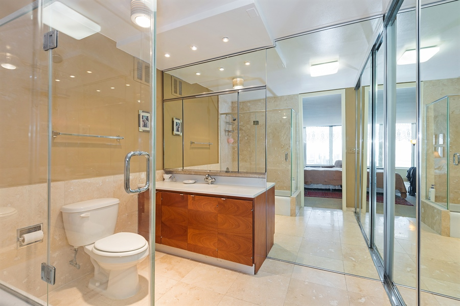 Real Estate Photography - 505 N. Lake Shore, 4512, Chicago, IL, 60611 - Master Bathroom