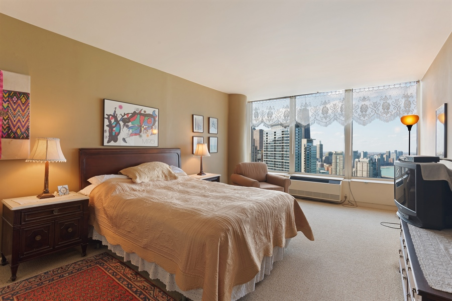 Real Estate Photography - 505 N. Lake Shore, 4512, Chicago, IL, 60611 - Master Bedroom