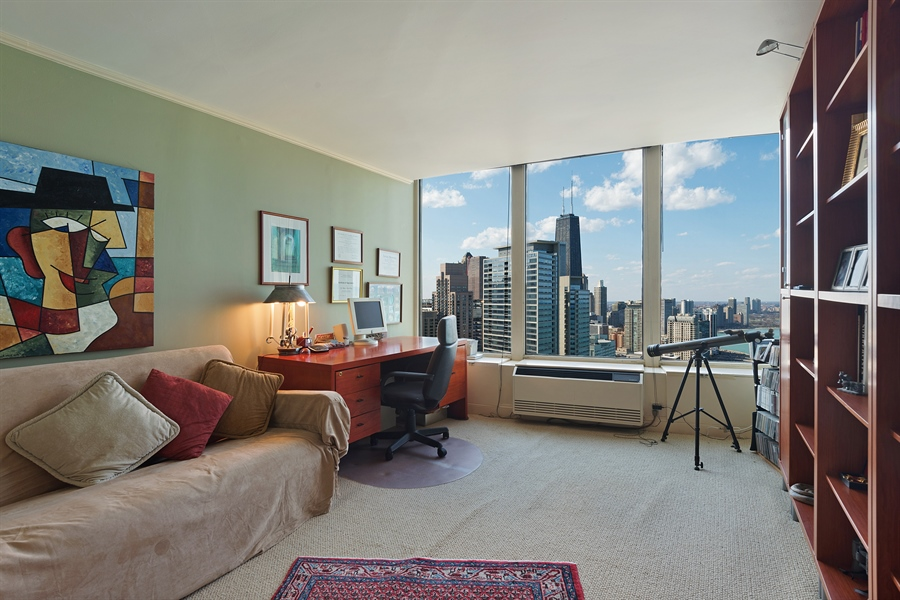 Real Estate Photography - 505 N. Lake Shore, 4512, Chicago, IL, 60611 - 2nd Bedroom