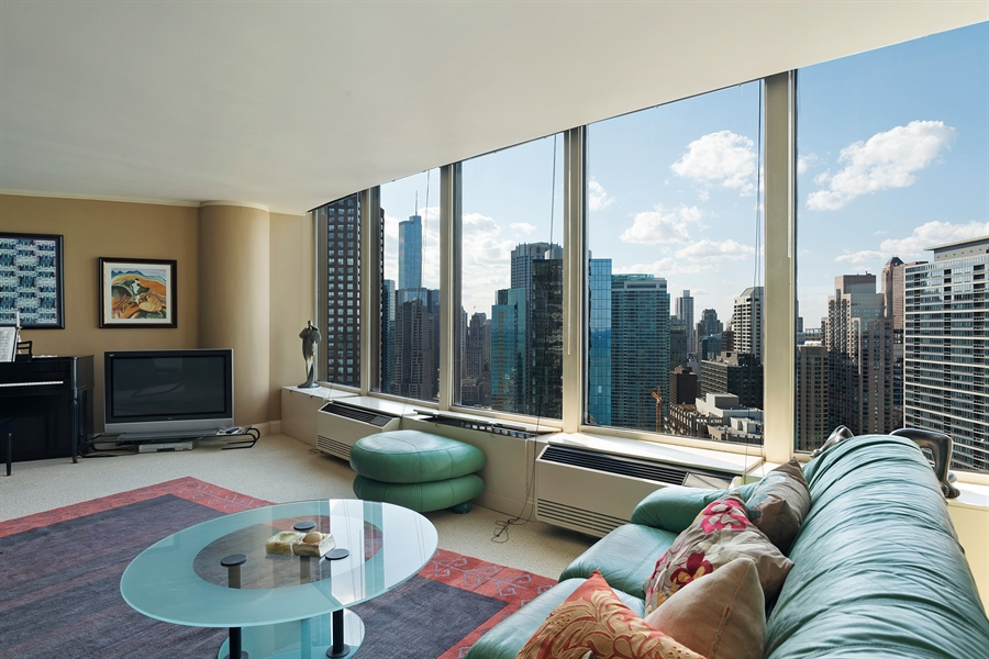 Real Estate Photography - 505 N. Lake Shore, 4512, Chicago, IL, 60611 - Living Room