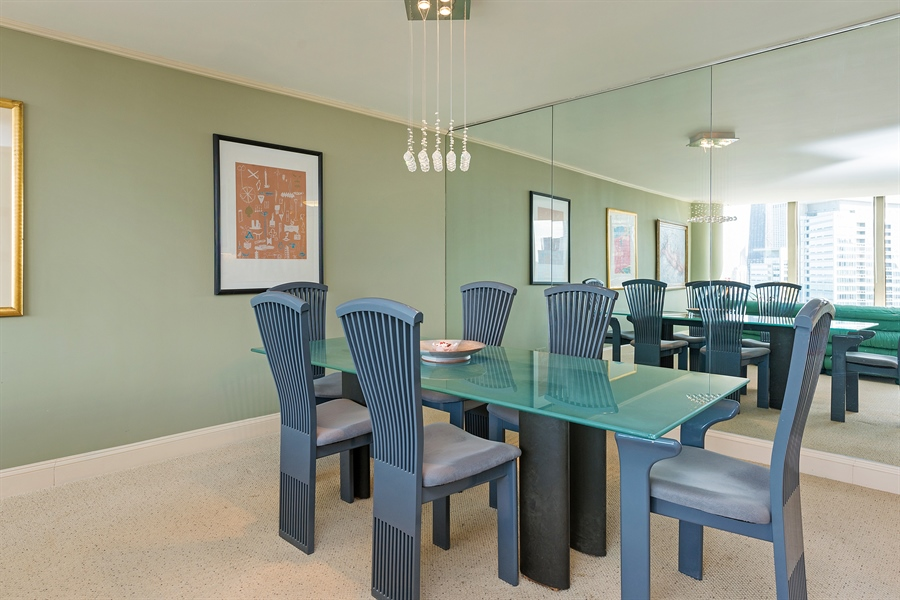 Real Estate Photography - 505 N. Lake Shore, 4512, Chicago, IL, 60611 - Dining Room