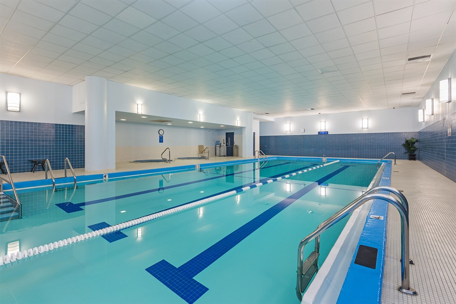 Real Estate Photography - 505 N. Lake Shore, 4512, Chicago, IL, 60611 - Indoor Pool