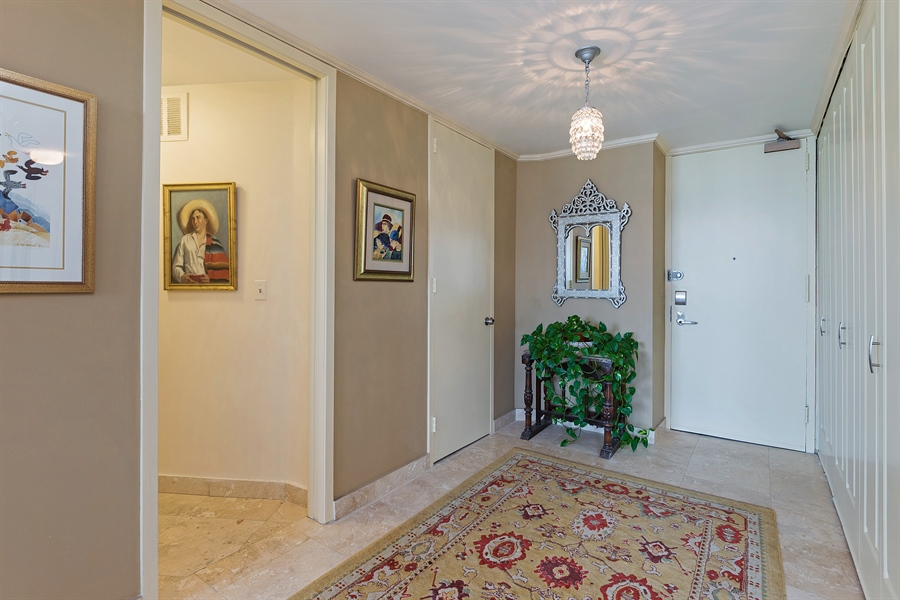Real Estate Photography - 505 N. Lake Shore, 4512, Chicago, IL, 60611 - Foyer