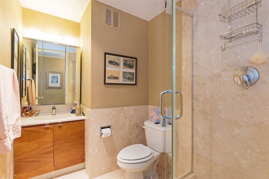 Real Estate Photography - 505 N. Lake Shore, 4512, Chicago, IL, 60611 - 2nd Bathroom