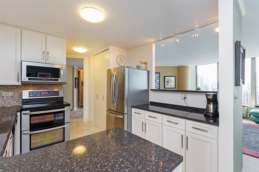 Real Estate Photography - 505 N. Lake Shore, 4512, Chicago, IL, 60611 - Kitchen / Living Room