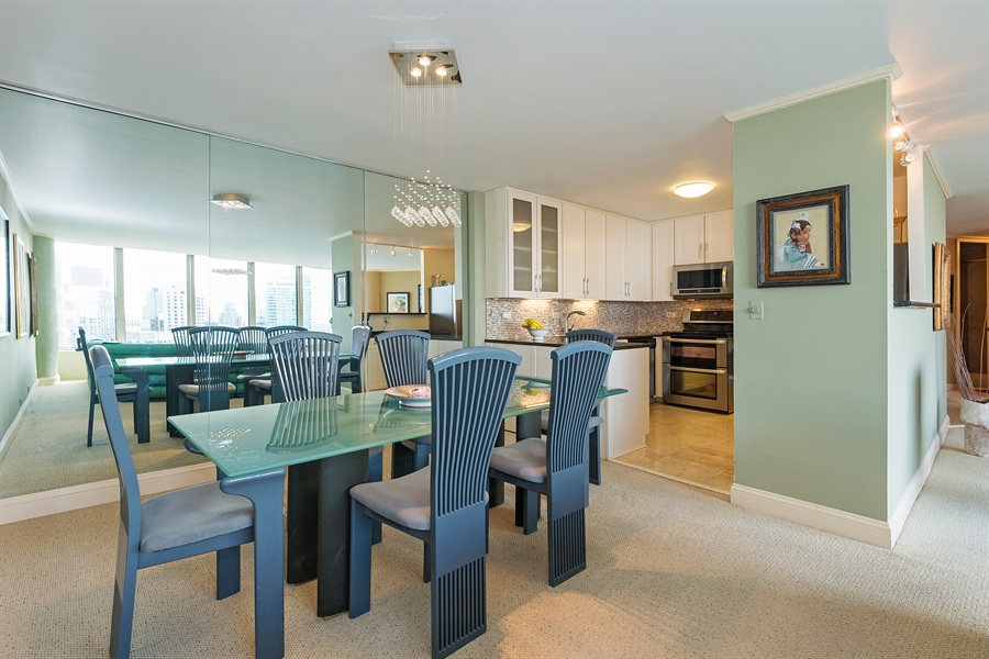 Real Estate Photography - 505 N. Lake Shore, 4512, Chicago, IL, 60611 - Kitchen / Dining Room
