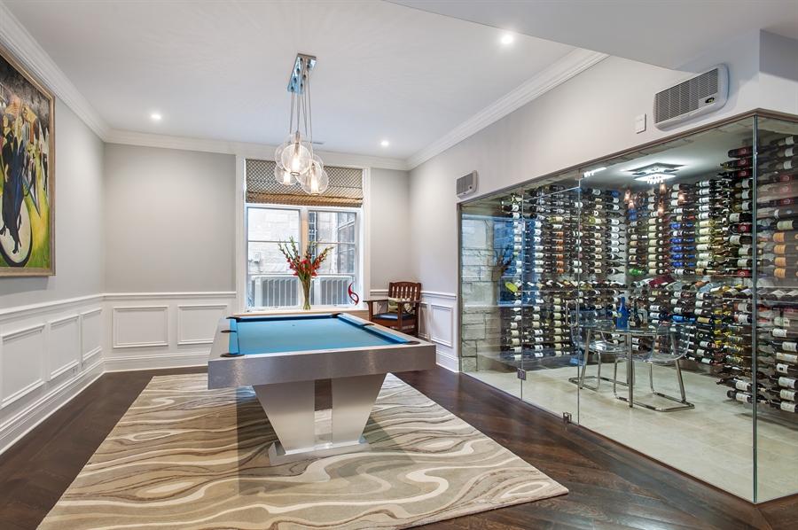 Real Estate Photography - 195 Sheridan Rd, Winnetka, IL, 60093 - Wine Cellar