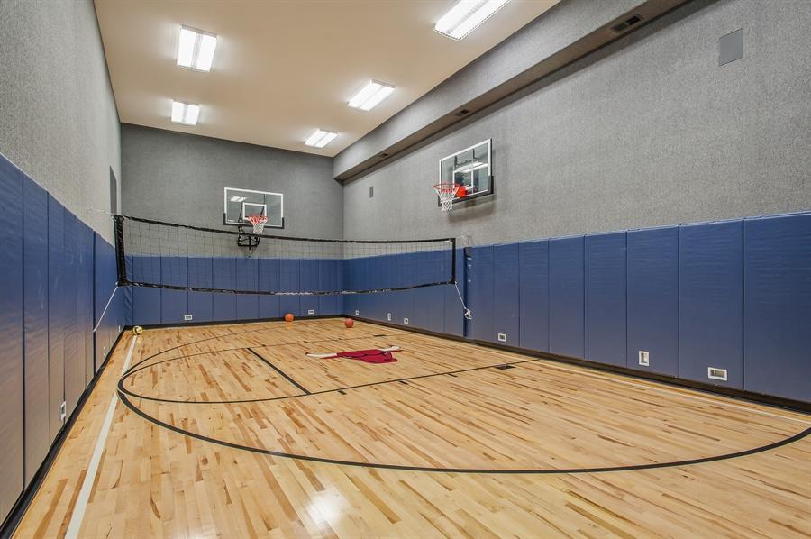 Real Estate Photography - 195 Sheridan Rd, Winnetka, IL, 60093 - Basketball Court
