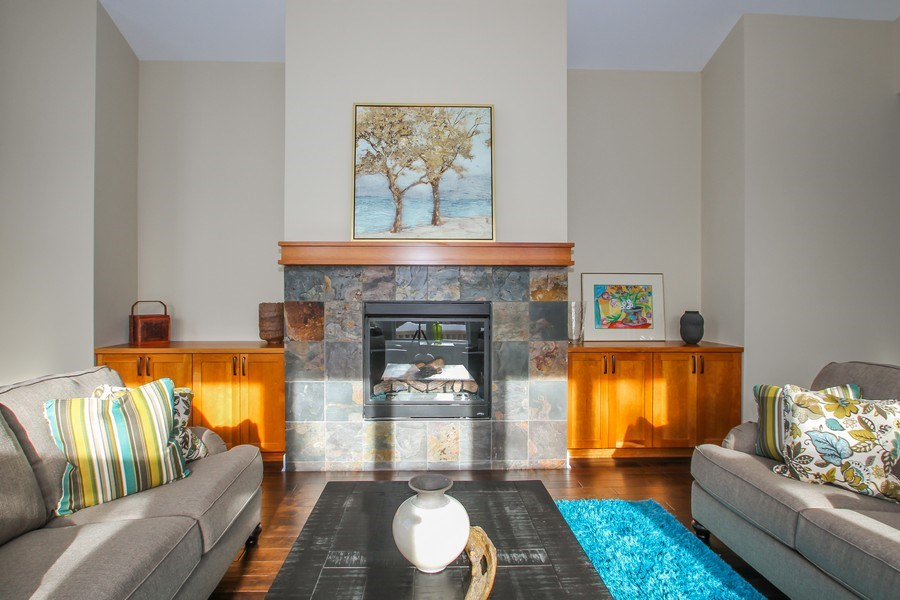 Real Estate Photography - 1460 Geneva Club Drive, Lake Geneva, WI, 53147 - Gas fireplace, built ins, beautiful and relaxing