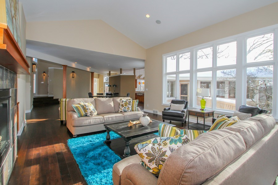 Real Estate Photography - 1460 Geneva Club Drive, Lake Geneva, WI, 53147 - Generous living room with amazing views