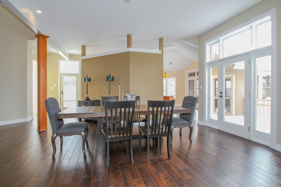 Real Estate Photography - 1460 Geneva Club Drive, Lake Geneva, WI, 53147 - Formal dining with room for family and friends