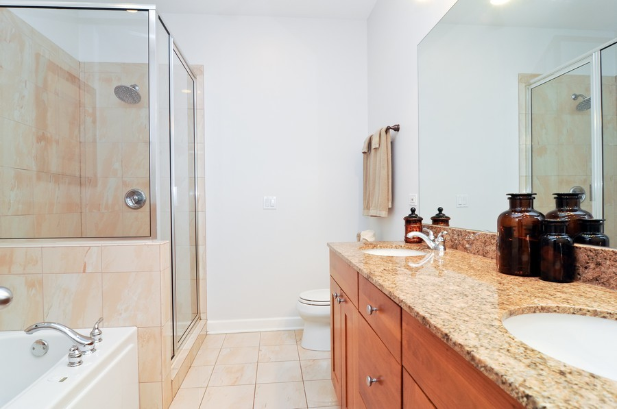 Real Estate Photography - 2419 N Clybourn, Unit 2, Chicago, IL, 60614 - Master Bathroom