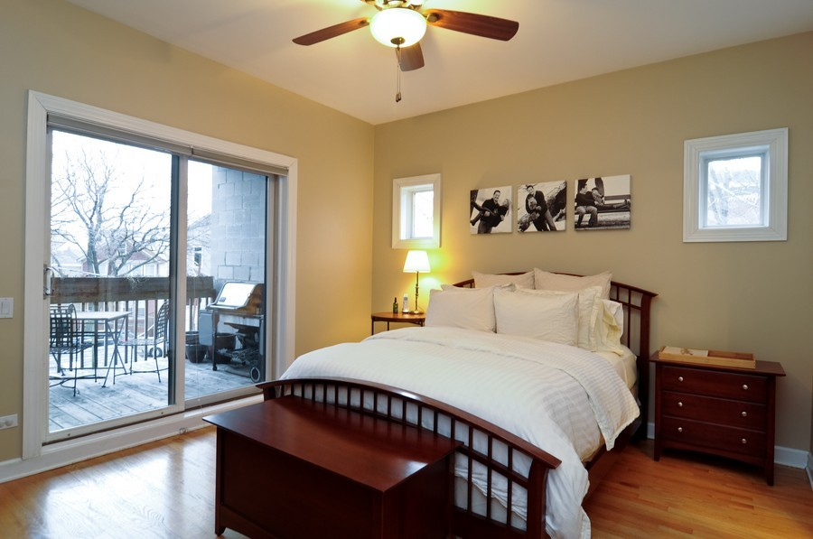 Real Estate Photography - 2419 N Clybourn, Unit 2, Chicago, IL, 60614 - Master Bedroom