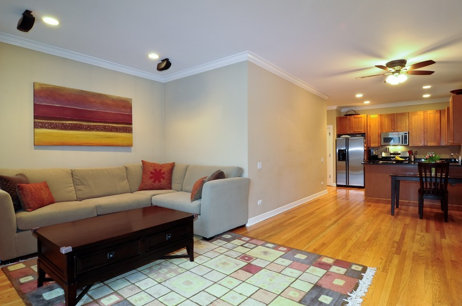 Real Estate Photography - 2419 N Clybourn, Unit 2, Chicago, IL, 60614 - Living Room