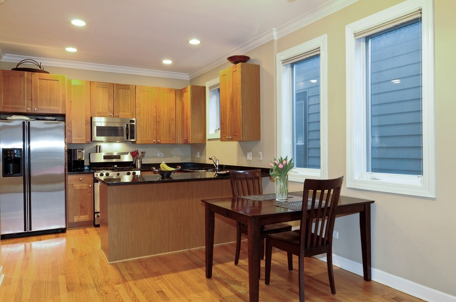 Real Estate Photography - 2419 N Clybourn, Unit 2, Chicago, IL, 60614 - Dining Room