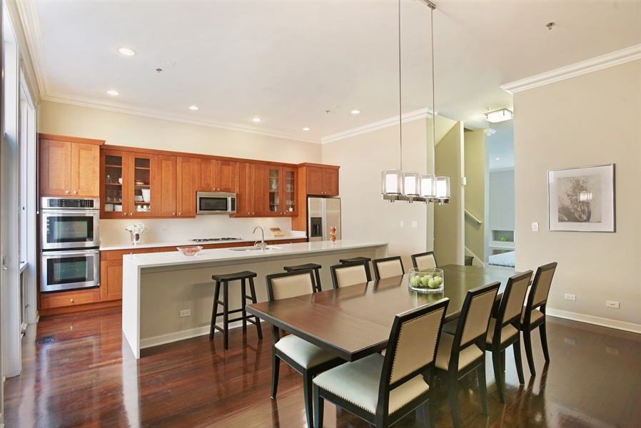Real Estate Photography - 2325 N Bosworth Ave, Chicago, IL, 60614 - Kitchen / Dining Room