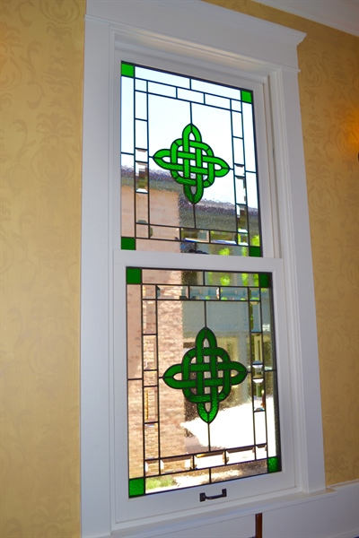 Real Estate Photography - 203 Dundee Avenue, Barrington, IL, 60010 - Custom Stained Glass Window