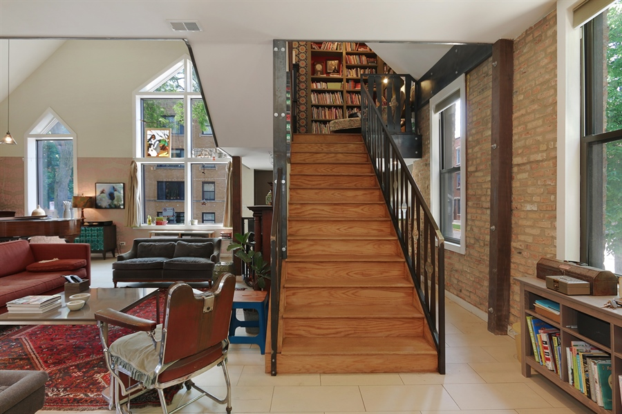 Real Estate Photography - 3030 W Cortland, Chicago, IL, 60647 - Staircase