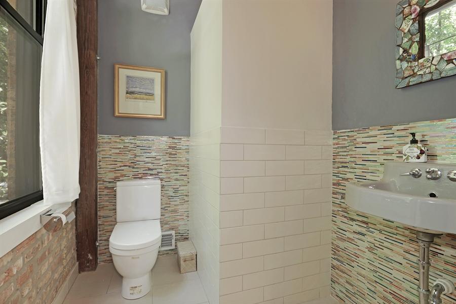 Real Estate Photography - 3030 W Cortland, Chicago, IL, 60647 - Half Bath