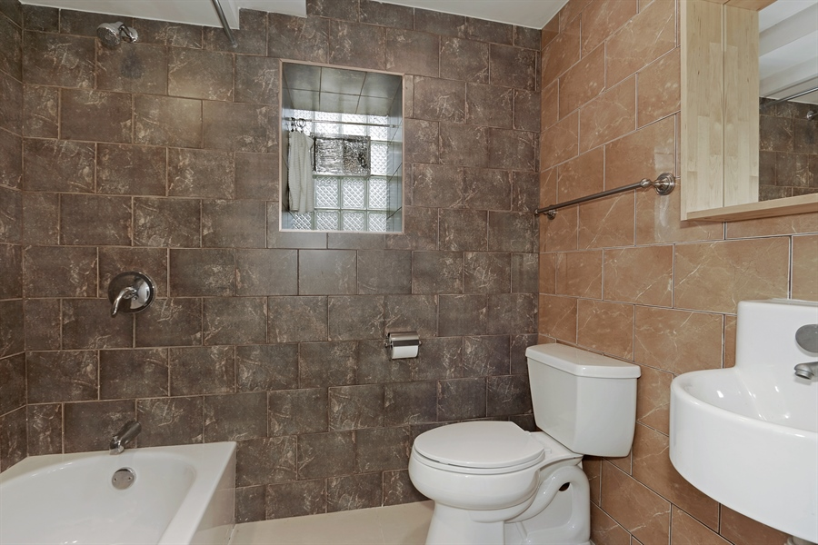 Real Estate Photography - 3030 W Cortland, Chicago, IL, 60647 - 2nd Bathroom