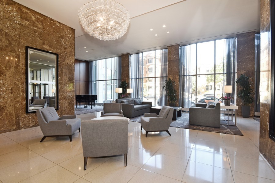 Real Estate Photography - 655 Irving Park Rd, Unit 4606, Chicago, IL, 60609 - RENOVATED LOBBY