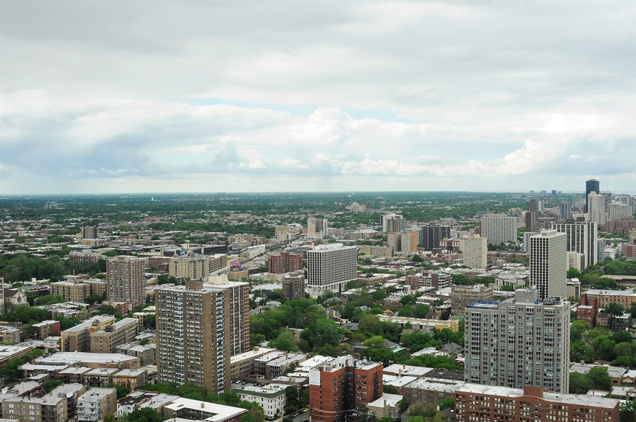 Real Estate Photography - 655 Irving Park Rd, Unit 4606, Chicago, IL, 60609 - City View