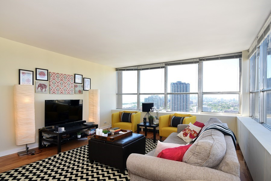 Real Estate Photography - 655 Irving Park Rd, Unit 4606, Chicago, IL, 60609 - Living Room