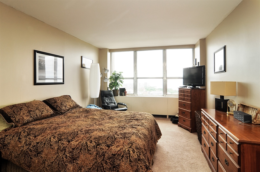 Real Estate Photography - 655 Irving Park Rd, Unit 4606, Chicago, IL, 60609 - Bedroom