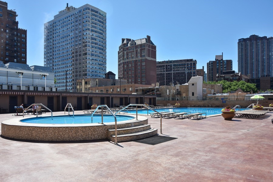 Real Estate Photography - 655 Irving Park Rd, Unit 4606, Chicago, IL, 60609 - Pool