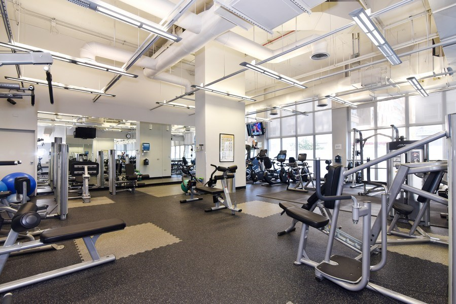Real Estate Photography - 655 Irving Park Rd, Unit 4606, Chicago, IL, 60609 - Fitness Center