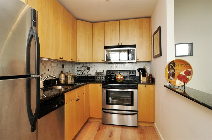 Real Estate Photography - 655 Irving Park Rd, Unit 4606, Chicago, IL, 60609 - Kitchen