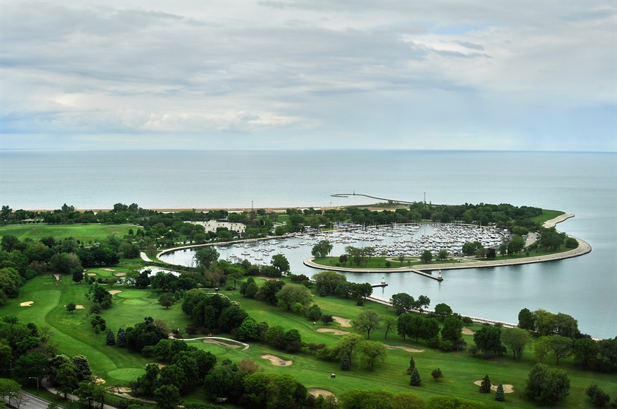 Real Estate Photography - 655 Irving Park Rd, Unit 4606, Chicago, IL, 60609 - LAKE & HARBOUR VIEW