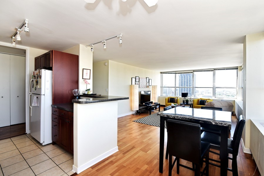 Real Estate Photography - 655 Irving Park Rd, Unit 4606, Chicago, IL, 60609 - Kitchen / Dining Room