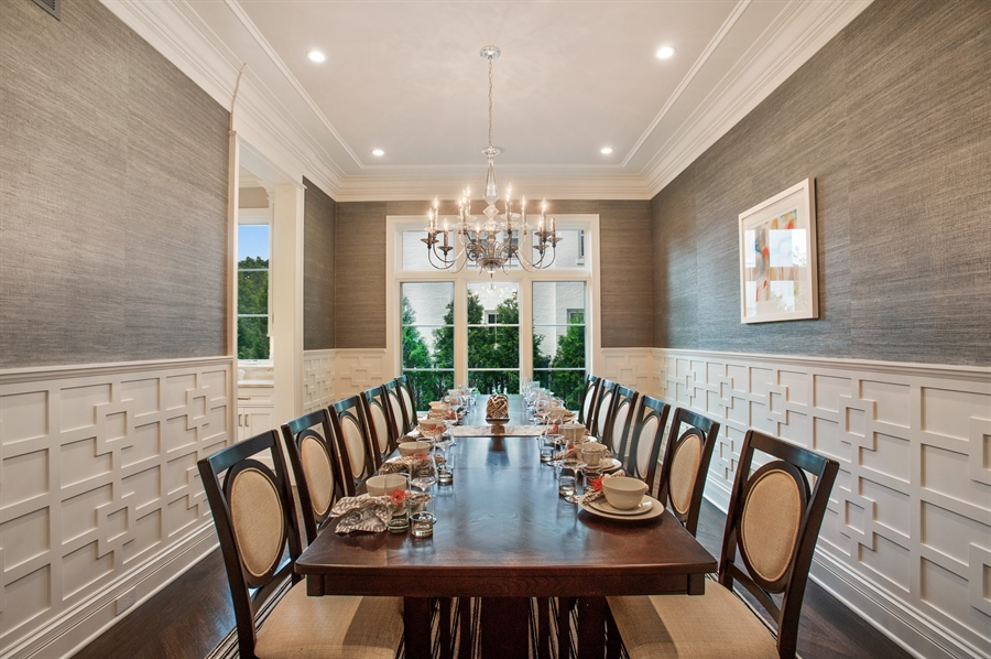 Real Estate Photography - 229 Essex Rd, Kenilworth, IL, 60043 - Dining Room