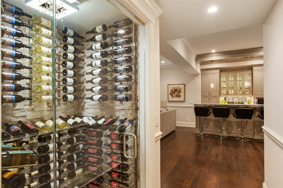 Real Estate Photography - 229 Essex Rd, Kenilworth, IL, 60043 - Wine Cellar