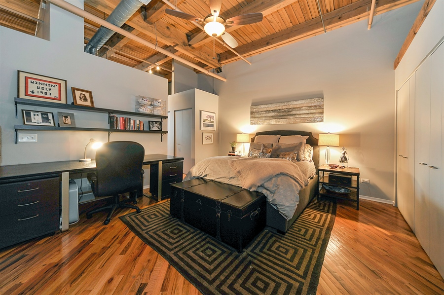 Real Estate Photography - 616 W Fulton, Unit 510, Chicago, IL, 60661 - Master Bedroom