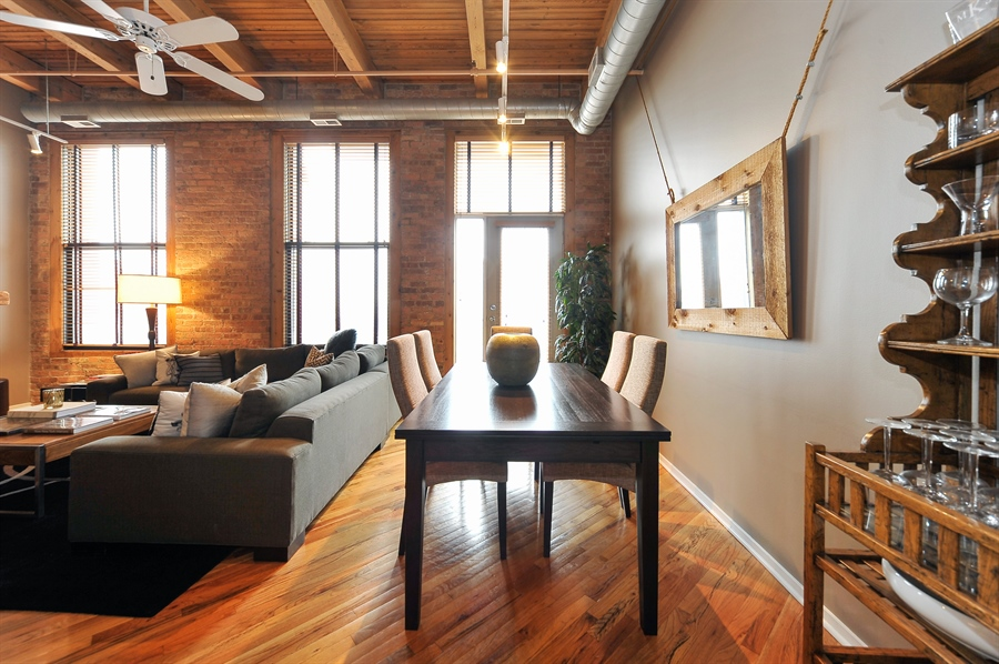 Real Estate Photography - 616 W Fulton, Unit 510, Chicago, IL, 60661 - Dining Room