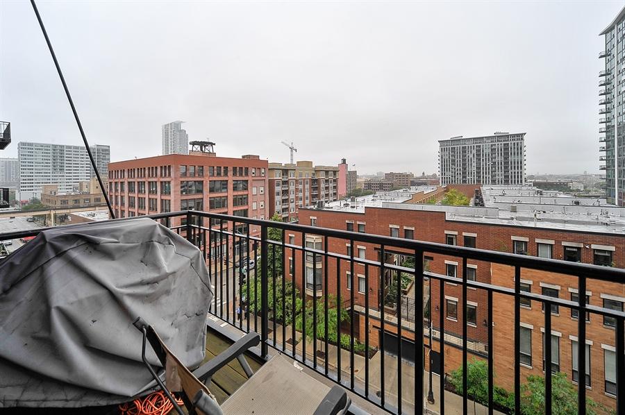 Real Estate Photography - 616 W Fulton, Unit 510, Chicago, IL, 60661 - Balcony
